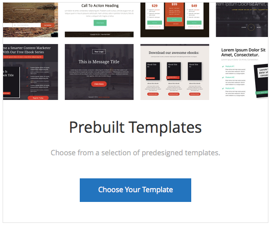 Rainmaker pre built template landing pages