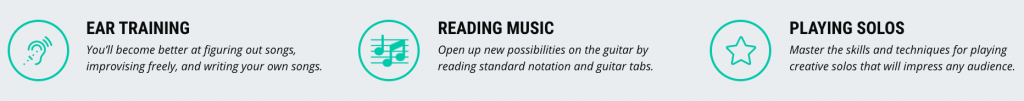 guitar lesson sales page