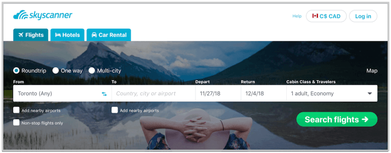affiliate marketing with skyscanner