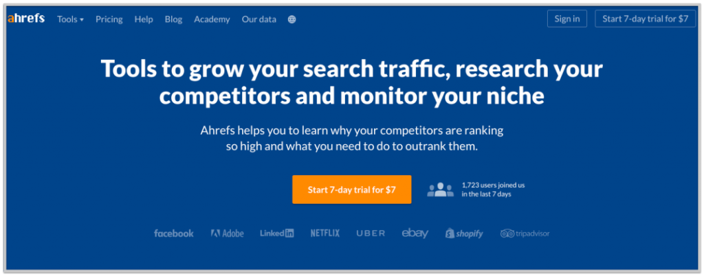 ahrefs make money with software example