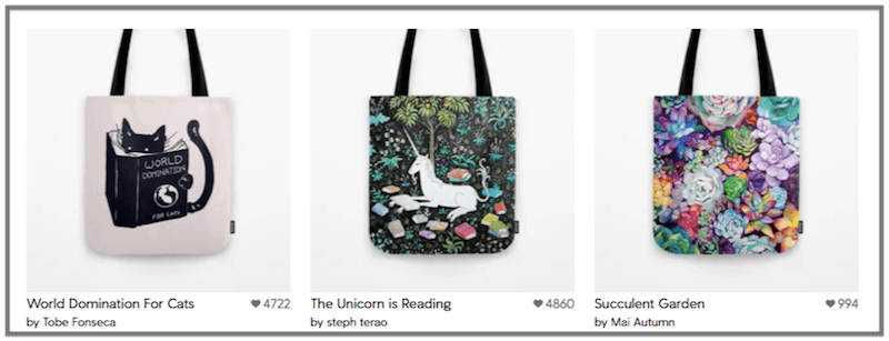 society6 online business ideas for artists