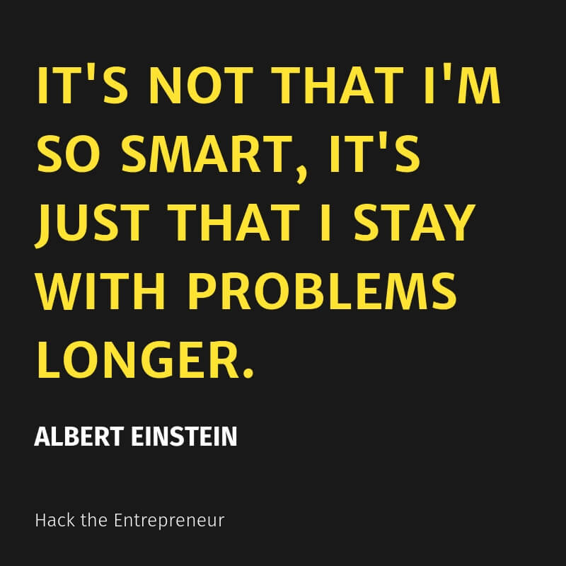 mindset quotes einstein stay with problems longer