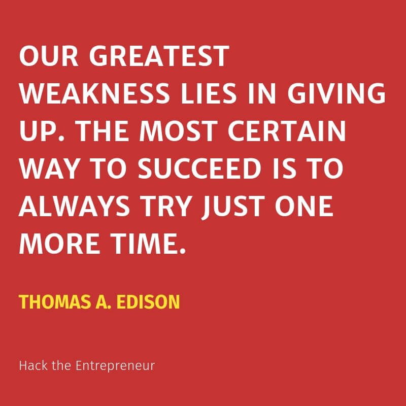 motivation quotes hustle edison try one more time
