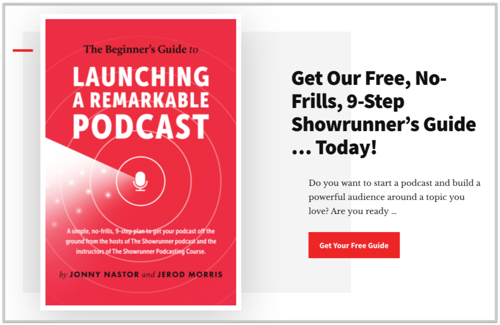 email opt in offer for podcast guide