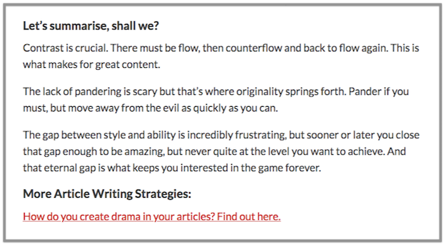 writing a blog post conclusion