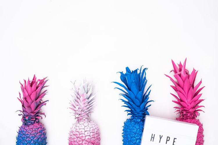 pineapple hype representing brand tone