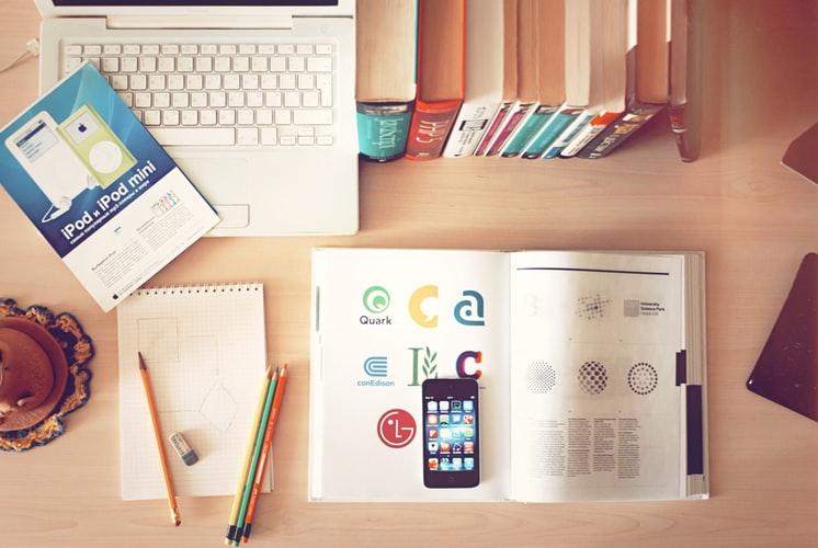 design materials and logos