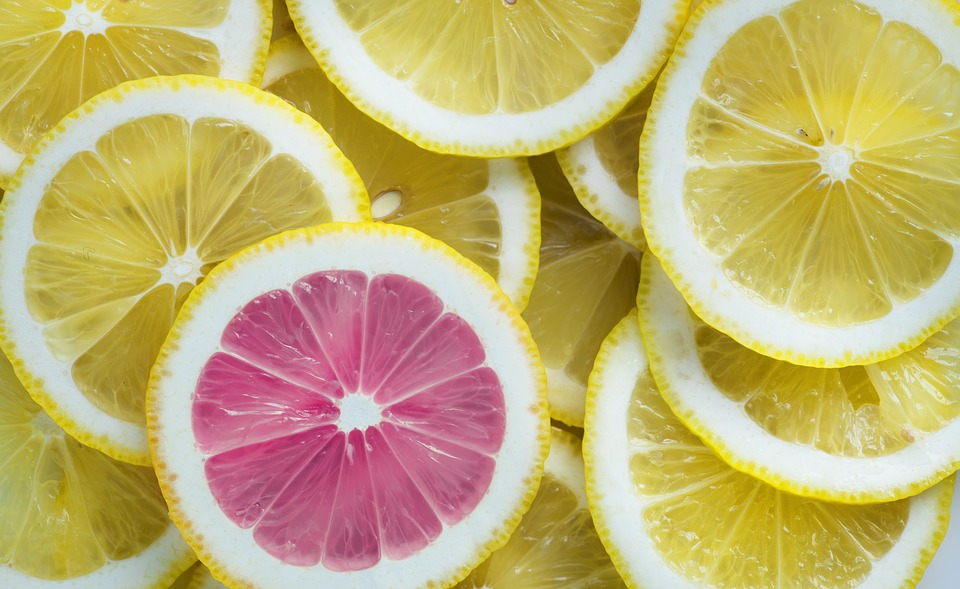 one different lemon slice representing originality