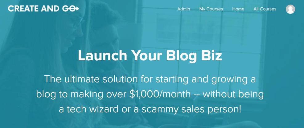launch your blogging biz course