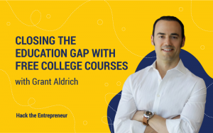 Closing the education gap with free college courses | Grant Aldrich Interview