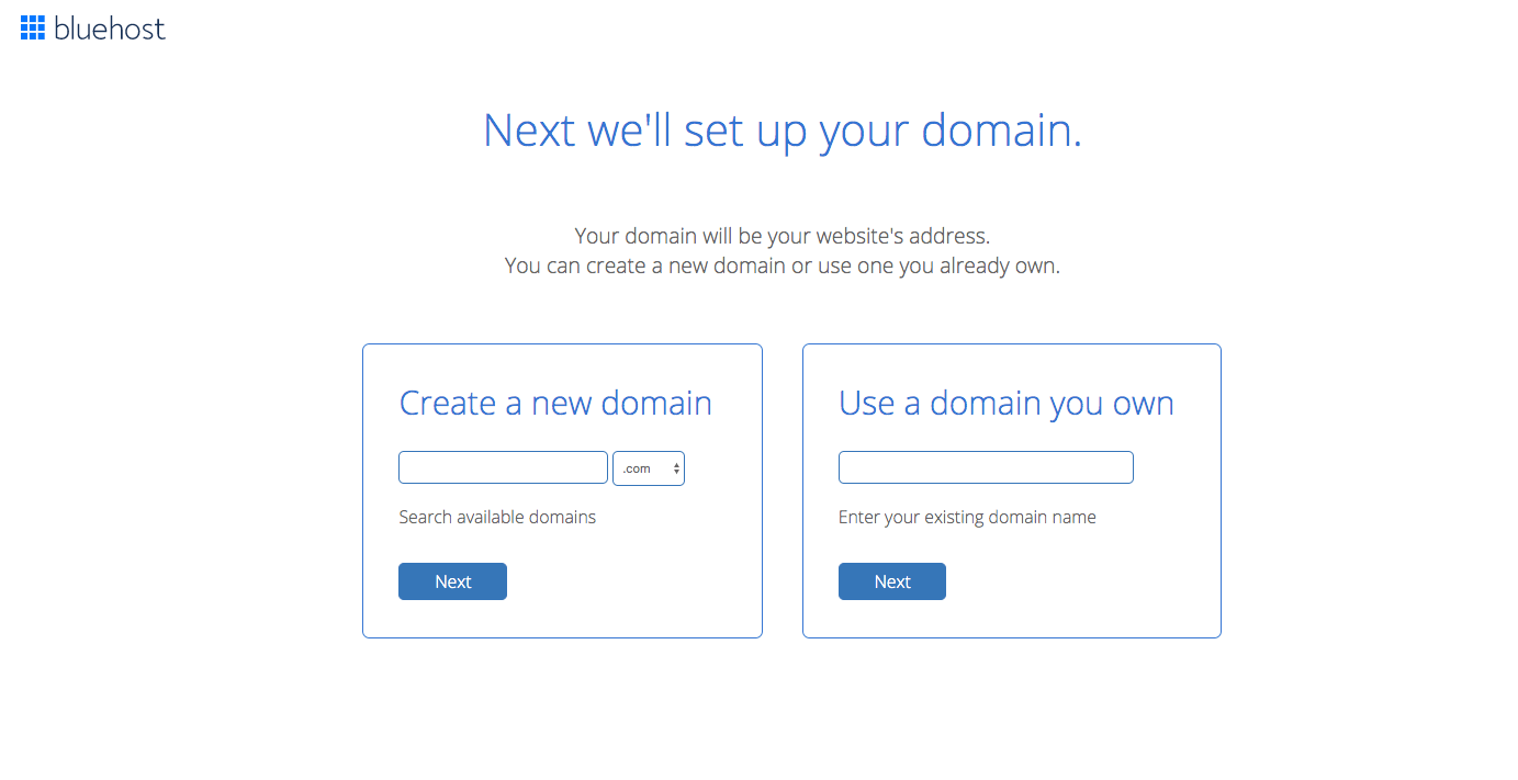 set up your blog domain