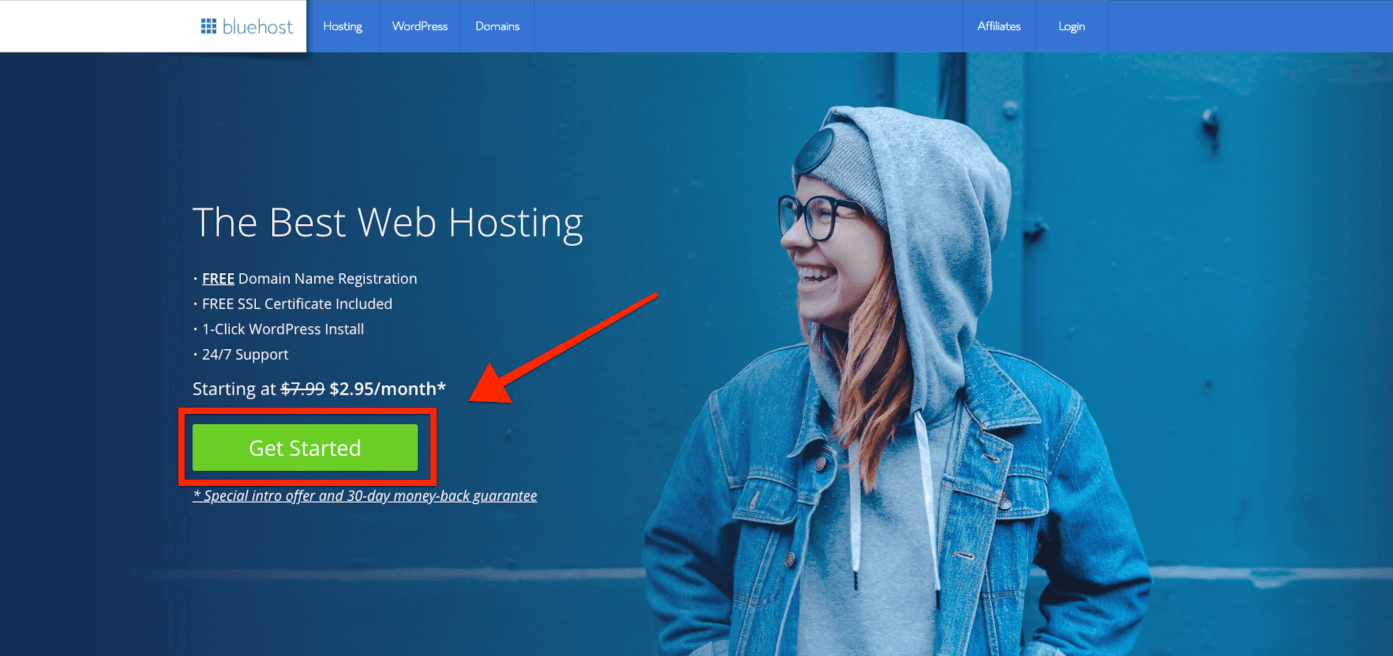 how to start a blog and make money with bluehost